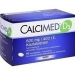 Verpackungsbild(Packshot) von CALCIMED D3 600 mg/400 I.E. Kautabletten