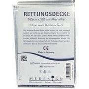 RETTUNGSDECKE 160x220 cm silber/silber