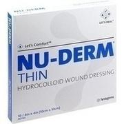 NU DERM Thin Hydrokolloid Verband 10x10 cm