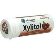 MIRADENT Xylitol Zahnpflegekaugummi Cranberry