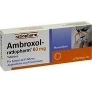 AMBROXOL-ratiopharm 60 mg Hustenl\o25ser Tabletten