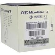 BD MICROLANCE 3 Sonderkanüle 27 G 1/2 0,4x13 mm