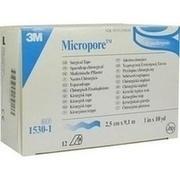MICROPORE Vliespfl.2,5 cmx9,1 m weiß 1530-1