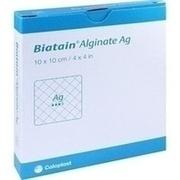BIATAIN Alginate Ag Kompressen 10x10 cm mit Silber