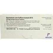 EQUISETUM CUM Sulfure tostum D 15 Ampullen
