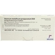 STANNUM METALLICUM praeparatum D 20 Ampullen