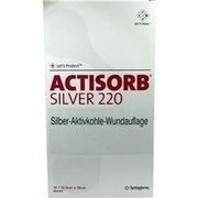 ACTISORB 220 Silver 10,5x19 cm steril Kompressen