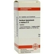 ACIDUM BENZOICUM E Resina D 3 Tabletten