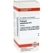 PLATINUM METALLICUM D 6 Tabletten