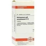 ANTIMONIUM SULFURATUM aurantiacum D 12 Tabletten
