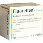 FLUORETTEN 0,25 mg Tabletten