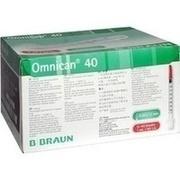 OMNICAN Insulinspr.1 ml U40 m.Kan.0,30x12 mm