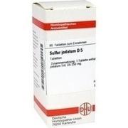 SULFUR JODATUM D 5 Tabletten