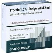 PROCAIN 1% Steigerwald Injektionslösung