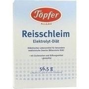 TÖPFER Reisschleim Elektrolyt Diät Pulver