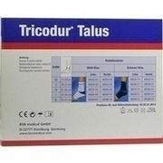 TRICODUR Talus Bandage M links weiß blau