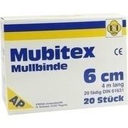 MUBITEX Mullbinden 6 cm ohne Cello
