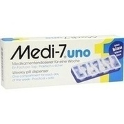 MEDI 7 uno Medikamentendosierer für 7 Tage blau
