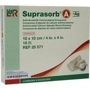 SUPRASORB A+Ag Antimik.Cal.Alginat Kompr.10x10 cm