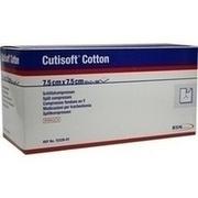 CUTISOFT Cotton Schlitzkompr.7,5x7,5 cm steril