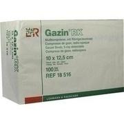 GAZIN Mullkomp.10x12,5 cm unsteril 12fach RK