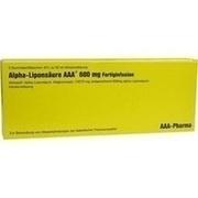 ALPHA LIPONSÄURE AAA 600 mg Injektionsflaschen