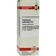 CARBONEUM SULFURATUM D 6 Dilution