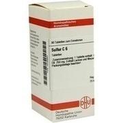 SULFUR C 6 Tabletten