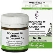 BIOCHEMIE 16 Lithium chloratum D 6 Tabletten