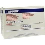 TOPPER Schlitzkompr.7,5x7,5 cm steril