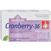 GESUNDFORM Cranberry 36 Kapseln