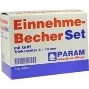 EINNEHMEBECHER Kunststoff m.Griff Set 4+12 mm