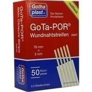 GOTA-POR Wundnahtstreifen 3x76 mm a 5 Streifen
