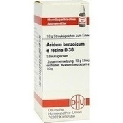 ACIDUM BENZOICUM E Resina D 30 Globuli