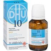 BIOCHEMIE DHU 10 Natrium sulfuricum D 6 Tab.Karto
