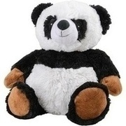 WÄRME STOFFTIER Panda YinYin schwarz/weiß
