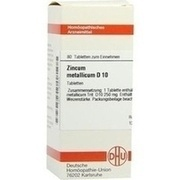 ZINCUM METALLICUM D 10 Tabletten