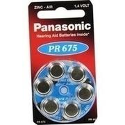 BATTERIEN f.Hörgeräte Panasonic PR675