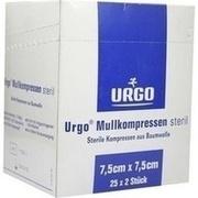 URGO MULLKOMPRESSEN 7,5x7,5 cm steril