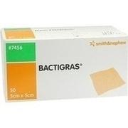 BACTIGRAS antiseptische Paraffingaze 5x5 cm