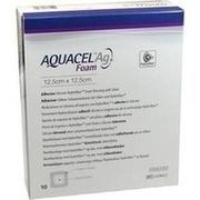 AQUACEL Ag Foam adhäsiv 12,5x12,5 cm Verband