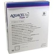 AQUACEL Ag Foam adhäsiv 17,5x17,5 cm Verband