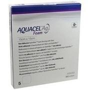 AQUACEL Ag Foam nicht adhäsiv 15x15 cm Verband