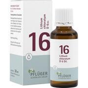 BIOCHEMIE Pflüger 16 Lithium chloratum D 6 Tropfen