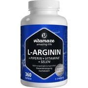 L-ARGININ 750 mg hochd.+Piperin+Vitamine Kapseln