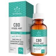 CBD 10% Bio Hanfextrakt Öl Vitadol mint