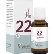 BIOCHEMIE Pflüger 22 Calcium carbonicum D 12 Glob.