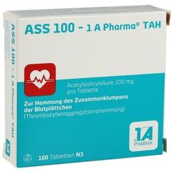 06312077, ASS 100 - 1 A Pharma TAH, 100 ST
