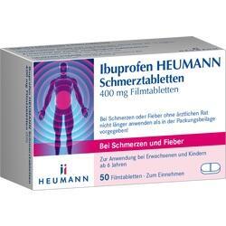 07728561, Ibuprofen Heumann Schmerztabletten 400mg Filmtabl., 50 ST
