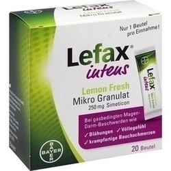 10537876, Lefax intens Lemon Fresh Mikro Granulat 250mg Sim., 20 ST